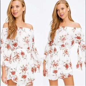 Off Shoulder Floral Dress Sizes L & M